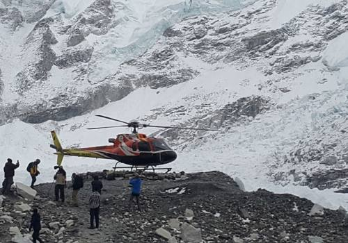 Trek to Everest Base Camp (EBC) and Helicopter to Lukla