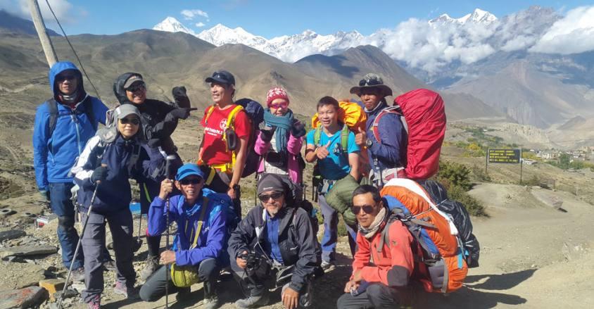 Trekking in ACT. Annapurna circuit trek Nepal