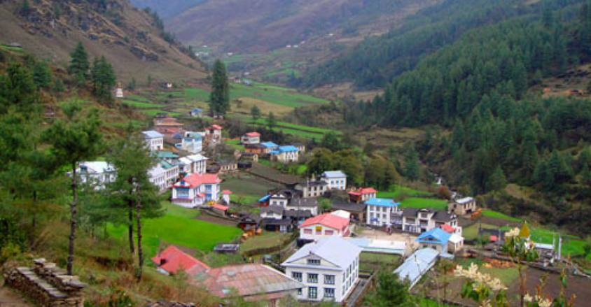 Beautiful village of Junbesi, on the way Bhandar to EBC trek