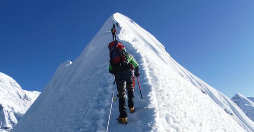 Lobuche Peak Climbing in Khumbu region.