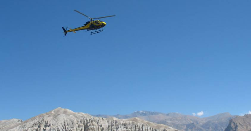 Helicopter Tour in Nepal, Helicopter flight in Nepal..