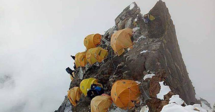During the Ama Dablam Expedition Camp II