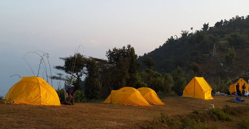 Camping side at Bijule