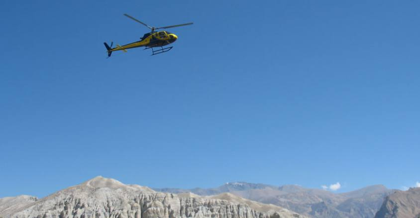 Helicopter Tour in Nepal, Helicopter flight in Nepal.