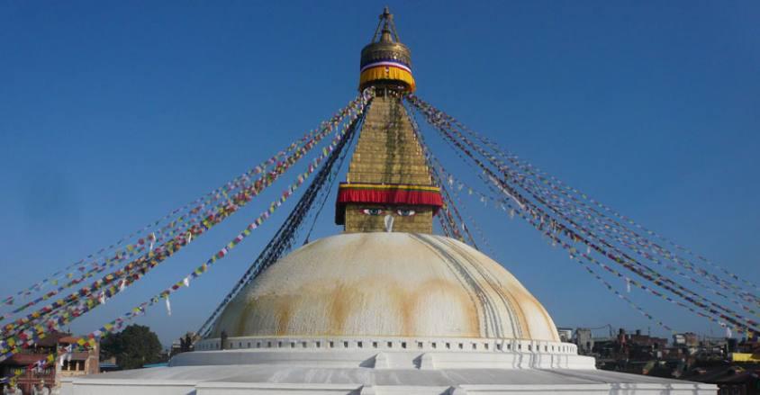 Kathmandu buddhanath stupa ( Kathmandu, Chitwan safari and Pokhara Tour)