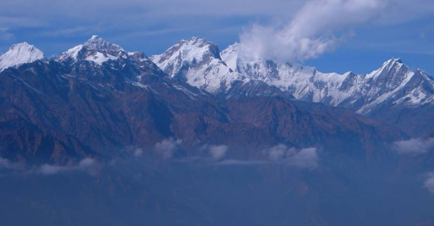 Himalayan ranges in Langtang region