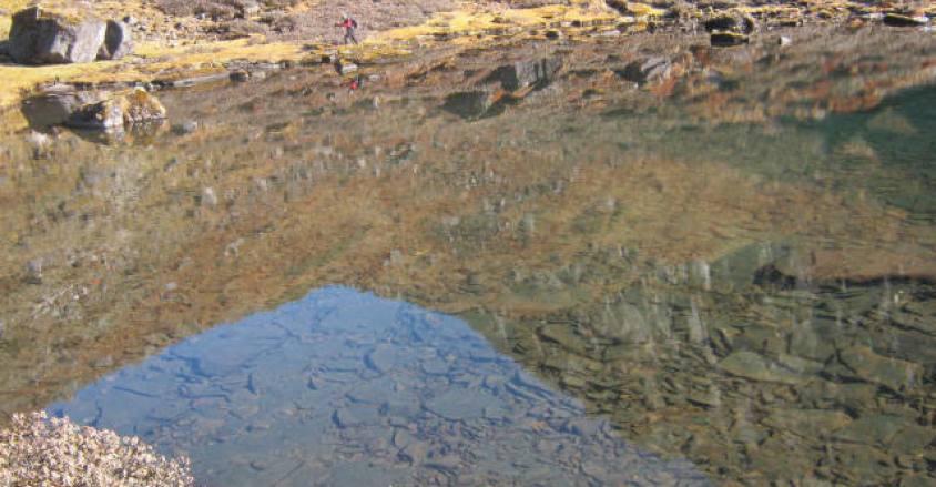 Lake Kalo Pokhari (3930m) Makalu region.