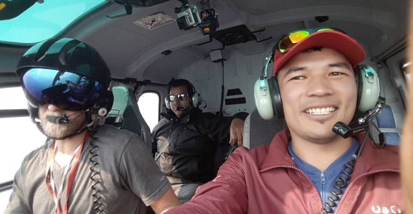 Mera to Lukla helicopter ride