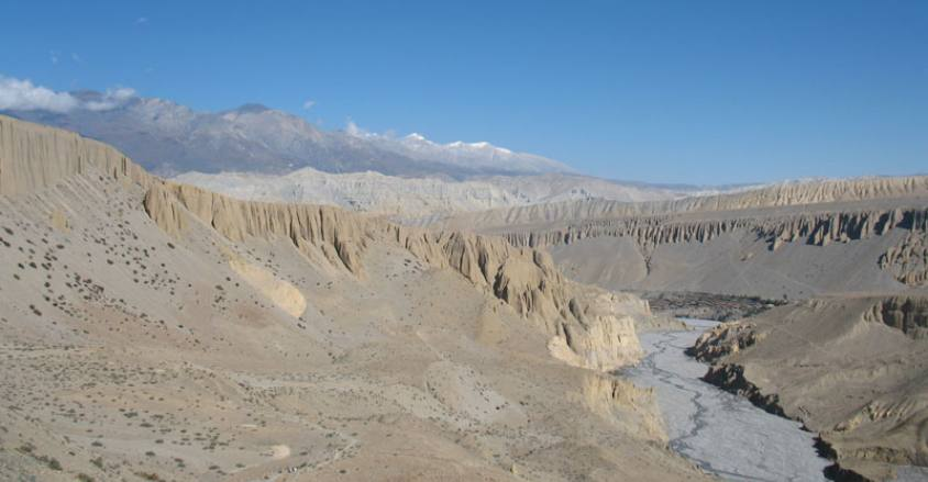 Kaligandaki Valley in Upper Mustang