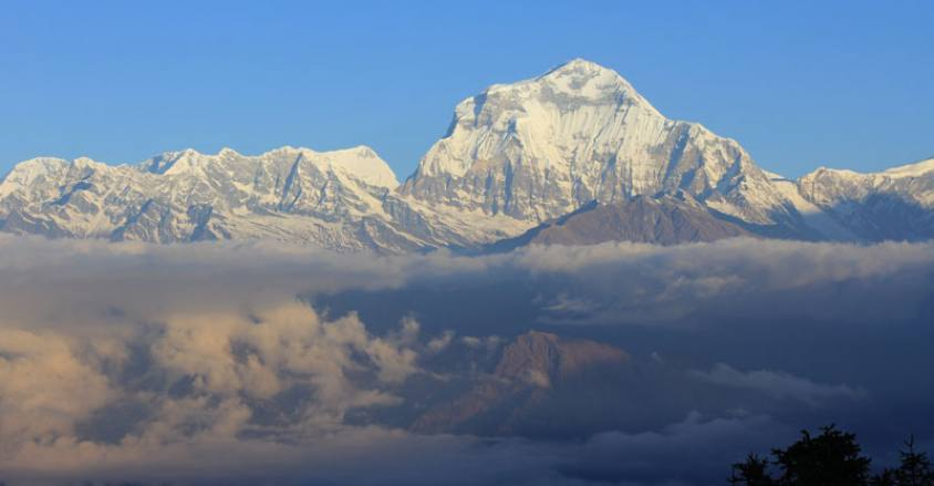 Mt.Dhaulagiri view from Poon Hill,this above 8000M.