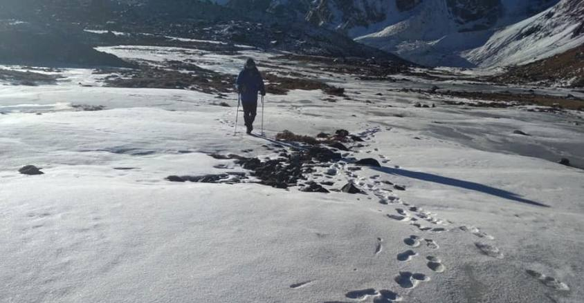 Footprint of Himalaya / Cho_ La pass winter trek