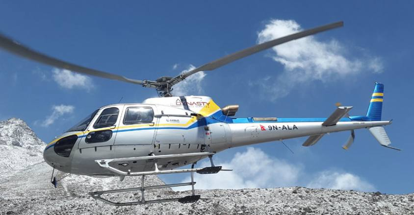 Trek to Everest Base camp(EBC) and helicopter to Lukla